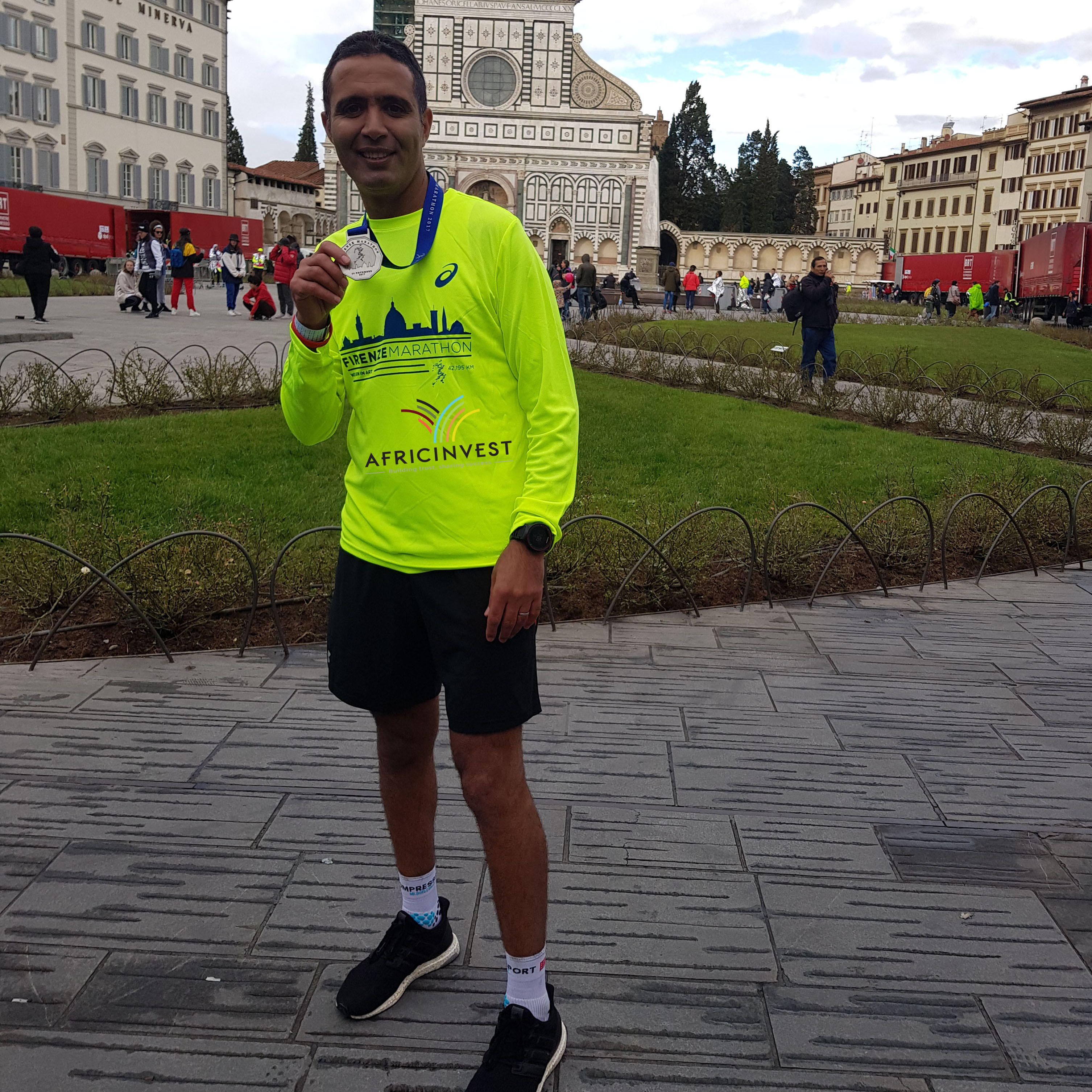 Participation of our colleague Farid Benlafdil in the Florence Marathon