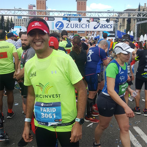 After Florence Marathon, our colleague Farid Benlafdil participated in Barcelone Marathon