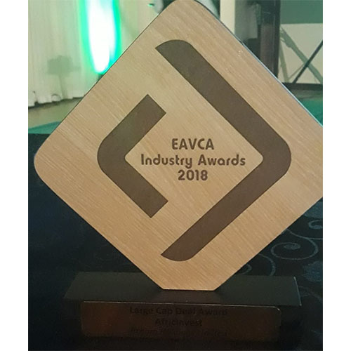 """AfricInvest wins the """"Large Cap Deal Award """" at the 2018 edition of the """"EAVCA Industry Awards"""" in Nairobi"""